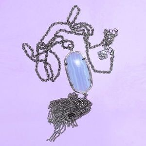 Blue Lace Agate Rayne Necklace